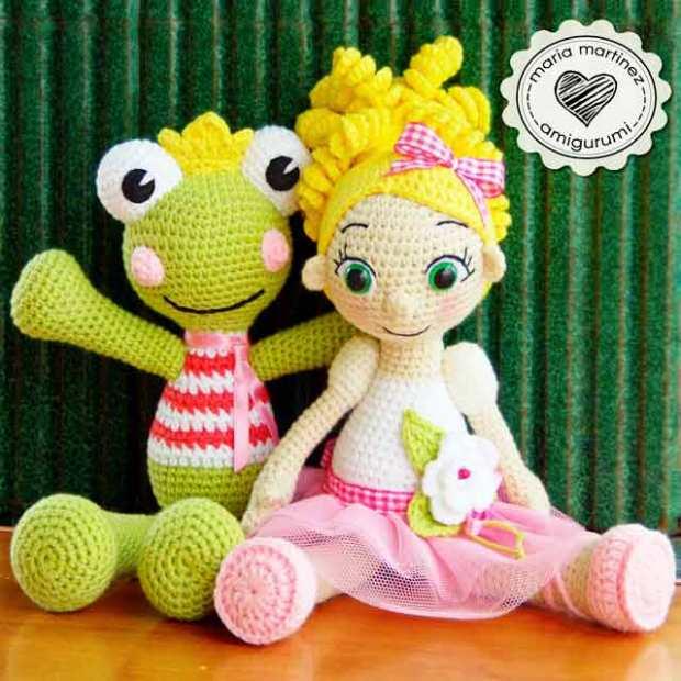 Ganchillo patrn mueca de Crochet amigurumis juguetes Tejidos