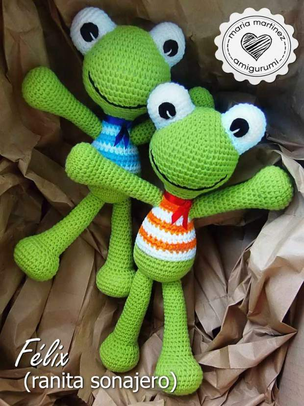 Ranitas Sonajero: patrón / Felix, the frog (rattle) – Maria Martinez ...
