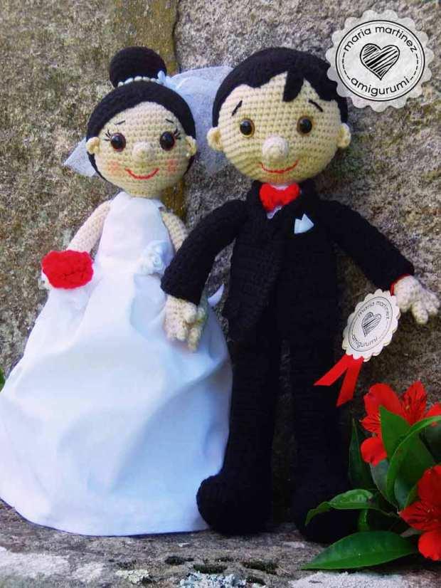 novios en crochet, con patrón gratis – maria martinez amigurumi